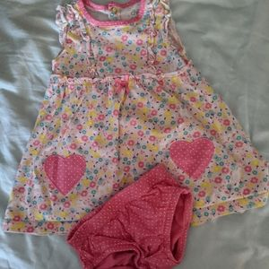 Floral Dress with Matching Diaper Cover